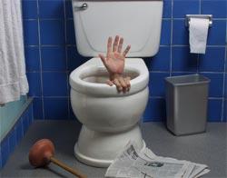 Zapušena wc solja